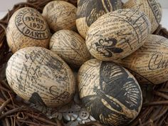 SewforSoul: Oh, So Shabby French Chic - Decoupage Eggs!