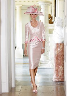 Elegant, but not sure why so many Mother of the Bride outfits are shiny?