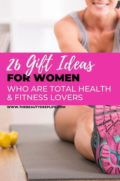 Is she a health and fitness lover? We've rounded up 26 gift ideas from women whether you're looking for holiday gift ideas or it's her birthday!! Give the gift or health and wellness!! #giftideas #womengiftideas #giftsforwomen #healthandfitness #fitness #workoutgifts #exercisegifts #holidaygifts #giftguide