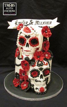 Day of the Dead Sugar Skull wedding cake