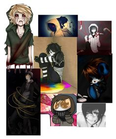 """""""anyone wanna Creepypasta RP"""" by dontforgetthesun2 ❤ liked on Polyvore featuring art"""