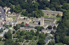 Magdalen College Oxford University aerial image by John Fielding #oxford #magdalen #college #university #aerial