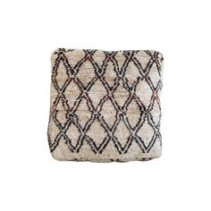 Image of White & Black Moroccan Kilim Floor Pillow