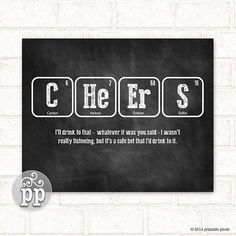 Periodic table autism teacher art science nerd by printablepixels periodic table cheers funny science nerd geekery kitchen decor urtaz Image collections