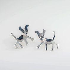 Saba Jewellery Jack Russell Terrier Earrings