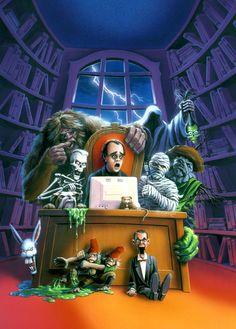 Creepy Pictures, Halloween Pictures, Halloween Art, Vintage Halloween, Horror Pictures, Happy Halloween, Horror Artwork, Horror Posters, Classic Horror Movies