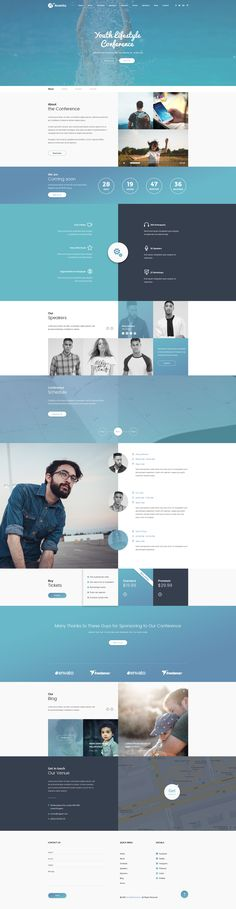 Avento - One Page Conference and Event PSD Template by VinaWebSolutions