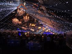 Clear tent... amazing lighting!