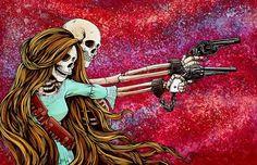 Tinta Tattoo, Arte Latina, Skeleton Art, Sugar Skull Art, Popular Art, Couple Art, Memento Mori, Western Art, Dark Fantasy