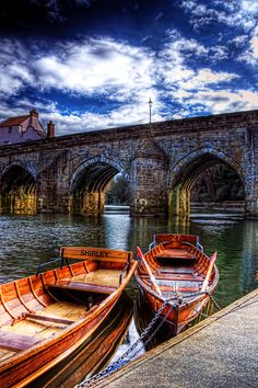 Boats on the River Wear, Durham City, England, Shirley
