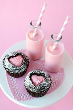 Heart Cut-out Cupcakes - glorioustreats.com