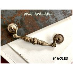 Drawer Pull Gorgeous Vintage Cast IRON Distressed Furniture