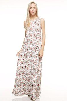 8355 - Floral Print maxi dress
