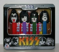 Pez Limited Edition Kiss Sets - New In Collectible Tin - 4 figures - TWO SETS!!!