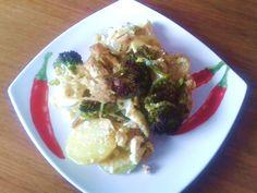 Brokolice zapečená s kuřecím masem | Pro ŽENY a HUBNUTÍ | od fitness Danči | Česko