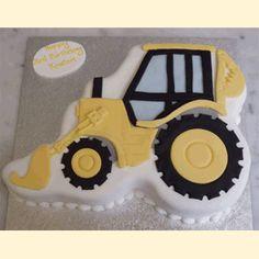 Digger Birthday Cake, Digger Cake, Digger Party, Birthday Cake Toppers, Little Boy Cakes, Cakes For Boys, Construction Cakes, Dad Cake, Birthday Cake Decorating