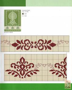 Gallery.ru / Fotoğraf # 8 - desen ve süs eşyaları - anapa-mama Cross Stitch Borders, Crochet Borders, Cross Stitch Samplers, Cross Stitch Designs, Cross Stitching, Cross Stitch Embroidery, Embroidery Patterns, Cross Stitch Patterns, Embroidery Monogram