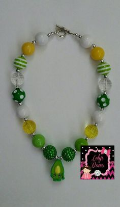Hey, I found this really awesome Etsy listing at https://www.etsy.com/listing/236432573/shopkins-bubblegum-chunky-necklace-green