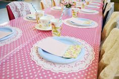 Adorable Pink & Girly Tea Party
