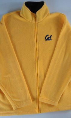#CalBears Fleece Jacket Mens XL Yellow USA Made http://etsy.me/1NzmSBj #cal #california #pac12 #vintage #90s