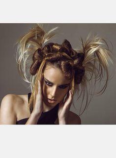 Braided Horns'Fashion Victim'  #FEELUNIQUE #BEYOURSELF #EXTREME 3LOOKBOOK #HAIRMINE www.hairmine.gr