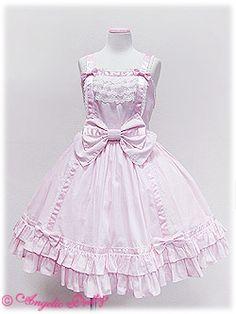angelic pretty サテンリボンラインジャンパースカート