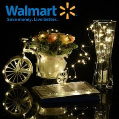 Walmart Oak Leaf Pack of 6 Starry Lights with 20 Fairy Bright LEDs On 3.3feet/1m Copper Wire LED String Lights Warm White