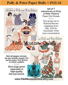 Paper Doll_Vintage Magazine Paper Dolls_Polly by TateMuseumOnline, $6.95
