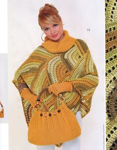 beautiful+ideas+crochet | beautiful poncho, free crochet patterns - crafts ideas - crafts for ...