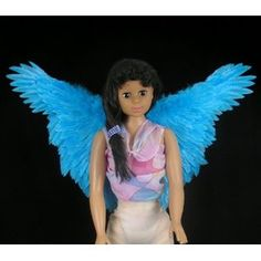 FashionWings (TM) Blue Butterfly Style Feather Angel Fairy Bird Macaw Costume Wings for Children and Teens. Rio Jewel.