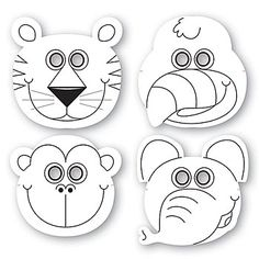 Jungle Buddies Color Your Own Mask, Jungle Animal Mask,These Jungle Buddies Color Your Own Mask include assorted styles of a tiger, parrot, monkey and elephant. Preschool Jungle, Jungle Crafts, Preschool Crafts, Rainforest Preschool, Jungle Activities, Jungle Party, Jungle Theme, Jungle Safari, Jungle Jaunt