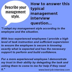 How to answer typical management interview questions.How to answer typical management interview questions.How to answer typical management interview questions. Management Interview Questions, Job Interview Answers, Job Interview Preparation, Job Interview Tips, Management Tips, Supervisor Interview Questions, Typical Interview Questions, Interview Techniques, Career Advice