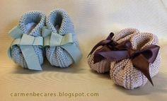 carmenbecares.blogspot.com: BABY BOOTIES. PATUCOS BEBE. ( dos agujas). KNITTED TUTORIAL