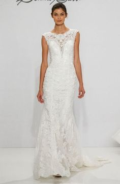 High Neck Sheath Wedding Dress  with Natural Waist in Lace. Bridal Gown Style Number:Trunk Show Only