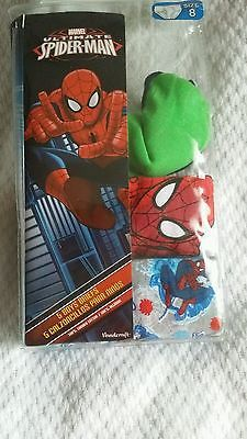 Super fast worldwide shipping size 8 boys BRAND NEW 3 pairs of spiderman briefs
