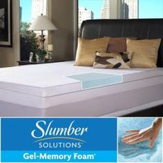 @Overstock - Rejuvenate your bed and reduce pressure points by adding this king-size foam mattress topper from Slumber Solutions. This topper features three-inches of gel memory foam, which distributes weight evenly, for a comfortable night's sleep.http://www.overstock.com/Bedding-Bath/Slumber-Solutions-Gel-Memory-Foam-3-inch-Queen-King-size-Mattress-Topper/5938210/product.html?CID=214117 $197.99