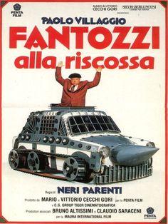 Fantozzi alla riscossa (1990). Di Neri Parenti, con Paolo Villaggio, Gigi Reder, Milena Vukotic, Plinio Fernando, Anna Mazzamauro.