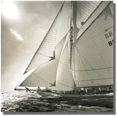 Moonbeam of Fife, Isle of Wight, England, sepia toned black and white photograph. Beach Scene Pictures, Sailing Pictures, Sailing Day, Sailing Ships, Wooden Sailboat, Classic Sailing, Lighthouse Pictures, Yacht Boat, Isle Of Wight