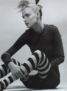 """""""Classy"""" Amy Wesson photographed by Craig McDean for Vogue Italia, April 1996."""