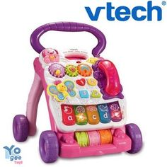 VTech Pink First Steps Baby Walker - Kaylee, she'd sit up to play with this then it'd eventually be a good help with walking