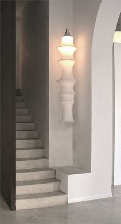 dark staircase wall!