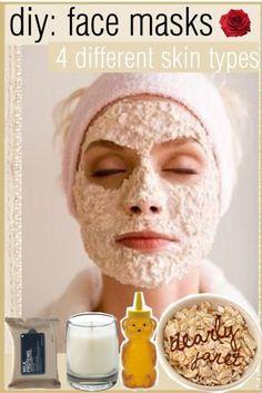 DIY: Face Masks          4 different skin types