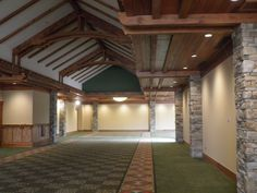 A view of the first section of the main concourse in the new LeConte Center in #PigeonForge