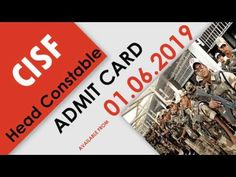 CISF Head Constable Admit Card Central Industrial Security Force (CISF) has released Common Graduate Level (CGL) exam.