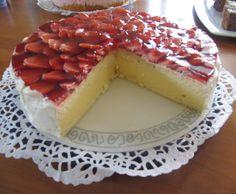 Rezept Erdbeer-Pfirsich-Torte, Finessen 3/2014 von Poellinger - Rezept der Kategorie Backen süß