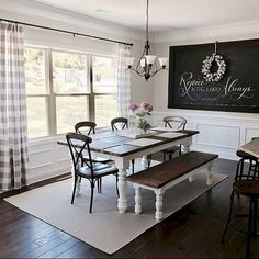Awesome 80 Lasting Farmhouse Dining Room Decor Ideas https://insidecorate.com/80-lasting-farmhouse-dining-room-decor-ideas/