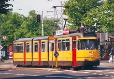 Trams | RET 702 in remotest Rotterdam at Marconiplein in July 1995. GVB 722 in ...