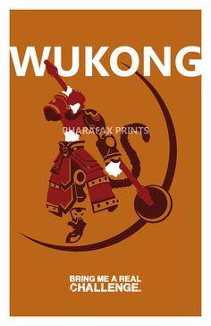 Wukong: League of Legends Print por pharafax en Etsy