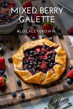 Summer Desserts, Easy Desserts, Delicious Desserts, Yummy Food, Schnitzel Express, Cake Recipes, Dessert Recipes, Galette Recipe, Blueberry Desserts