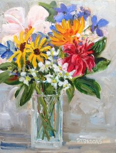 Art by Marcela Strasdas : Welcome Home! Welcome Home, Flower Art, Glass Vase, My Arts, In This Moment, Create, Vases, Flowers, Challenge